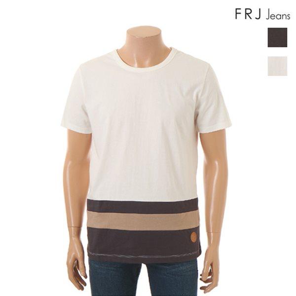 [FRJ]남성 변형배색블록형티셔츠 (F52M-TM223B)