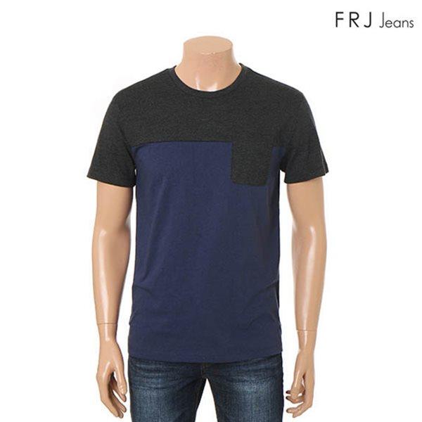 [FRJ]남성 블록배색포켓티셔츠 (F56M-TM953A)