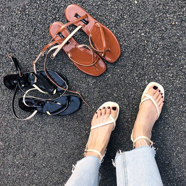 [드레스날다] 데일리 에나멜 스트랩 샌들(mshoes1003)