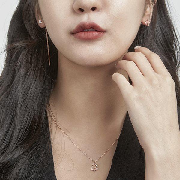 [드레스날다] 빈센 별자리 귀걸이 목걸이 세트(acc191)