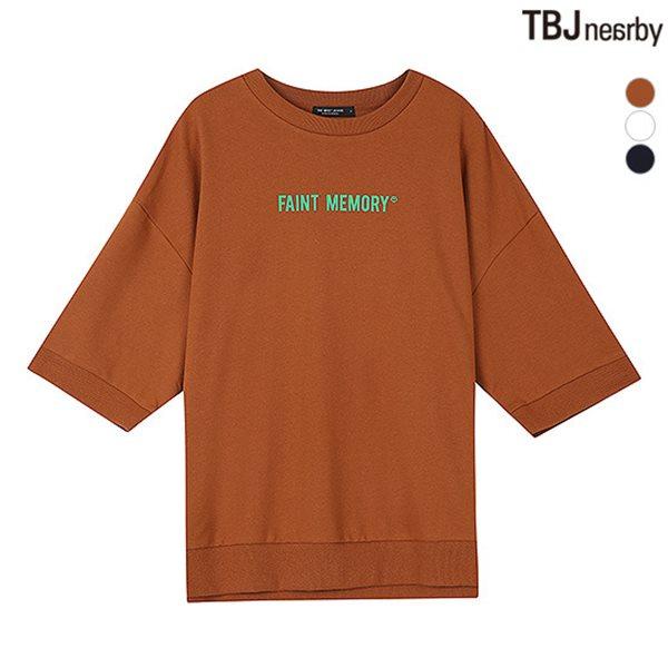 [TBJ]여성 미니쭈리 레터링 7부 티셔츠(T183TS620P)