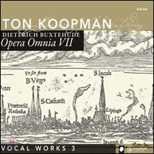 Ton Koopman 북스테후데: 전집 7 - 성악 작품집 3 (Buxtehude: Opera Omnia VII - Vocal Works 3)