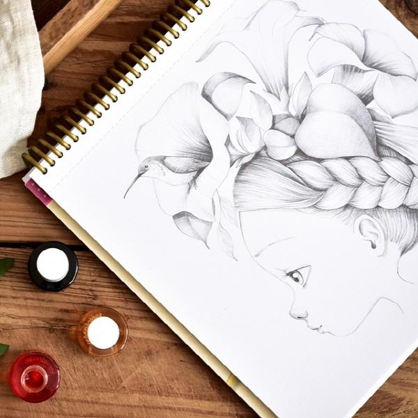 아브뉴만다린 와일드 컬러링북, 수채화 그리기