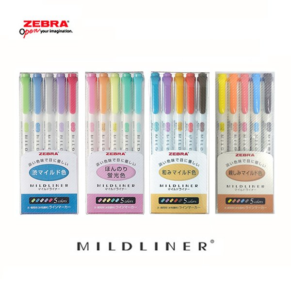 [YES24배송][ZEBRA]제브라 마일드라이너 MILD LINER 형광펜 5색세트