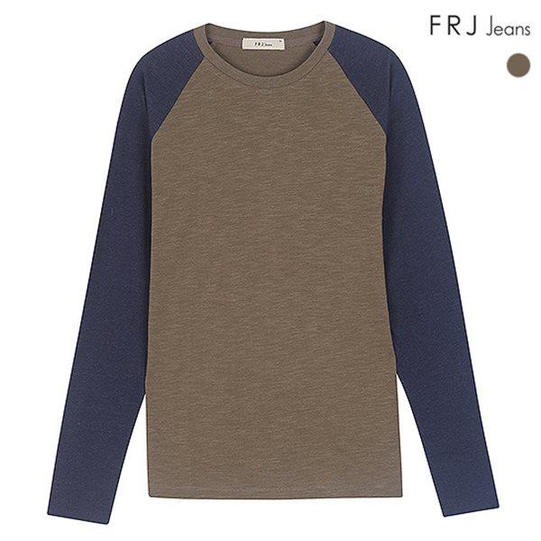 [FRJ]남성 라그란소매배색티셔츠 (F51M-TS031A)