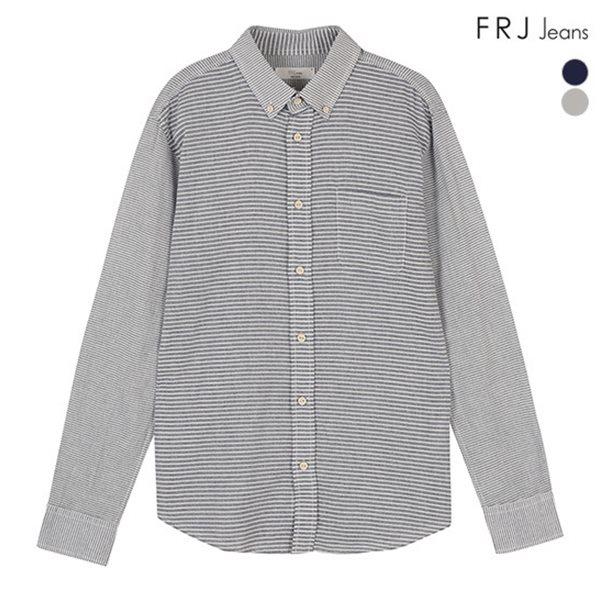 [FRJ]남성 몸판스트라이프배색셔츠 (F51M-SH05ZB)