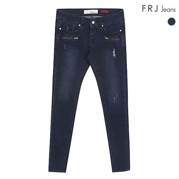 [FRJ]여성 D톤지퍼포인트앵클스키니데님 (F51F-DP386A)