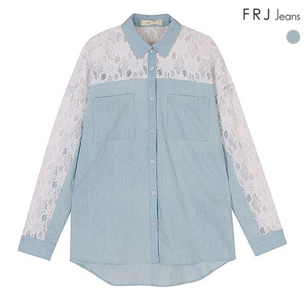[FRJ]여성 레이스데님배색셔츠 (F51F-SH561A)