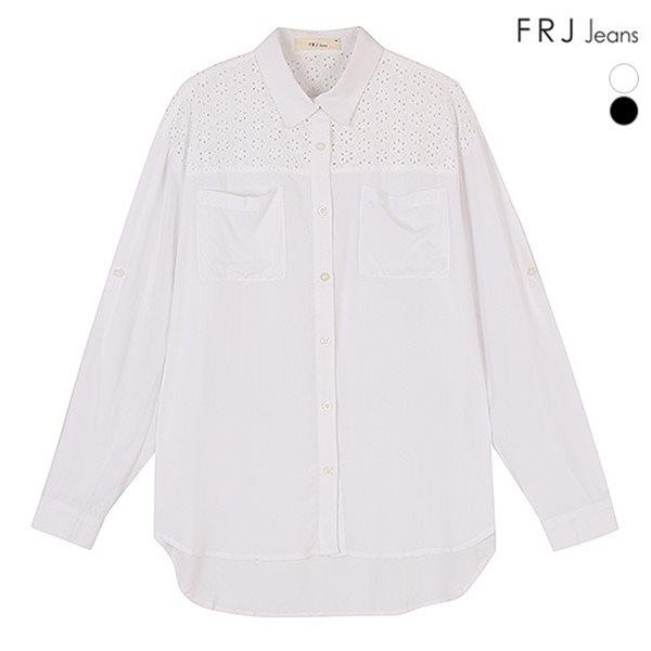 [FRJ]여성 레이스배색셔츠 (F51F-SH521A)