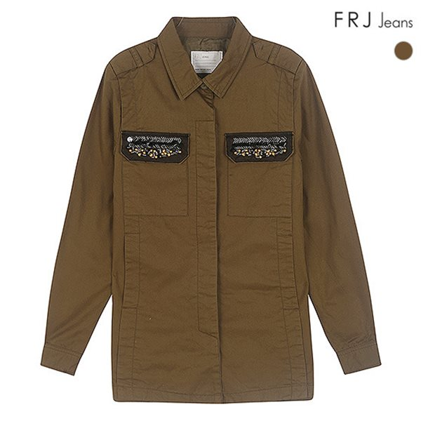 [FRJ]여성 비즈장식포켓셔츠형점퍼 (F51F-MM511B)