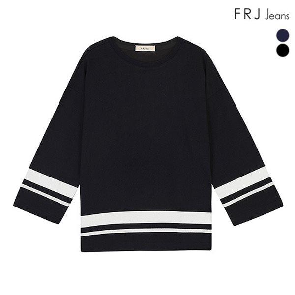 [FRJ]여성 테이프배색루즈핏티셔츠 (F51F-TS561A)
