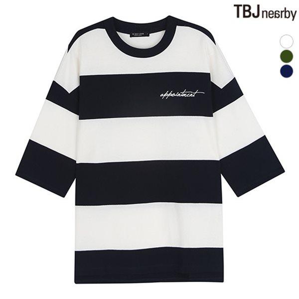 [TBJ]여성 미니쭈리 스트라이프 7부 티셔츠(T183TS610P)