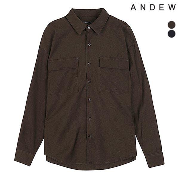 [ANDEW]남성 세미오버 기본카라 TR 아웃포켓 셔츠(O183SH170P)