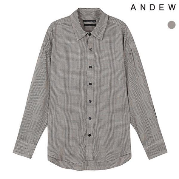 [ANDEW]남성 오버 기본카라 레이온 체크 셔츠(O183SH250P)