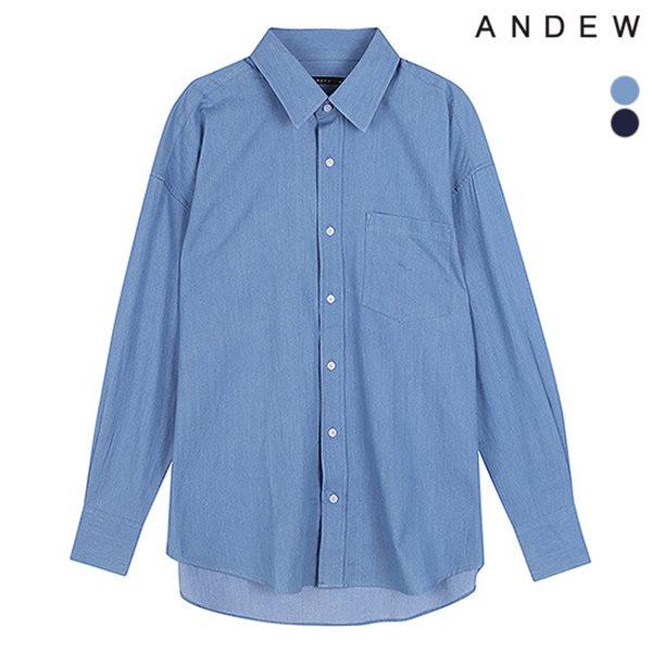[ANDEW]남성 오버 기본카라 해지 셔츠(O183SH310P)