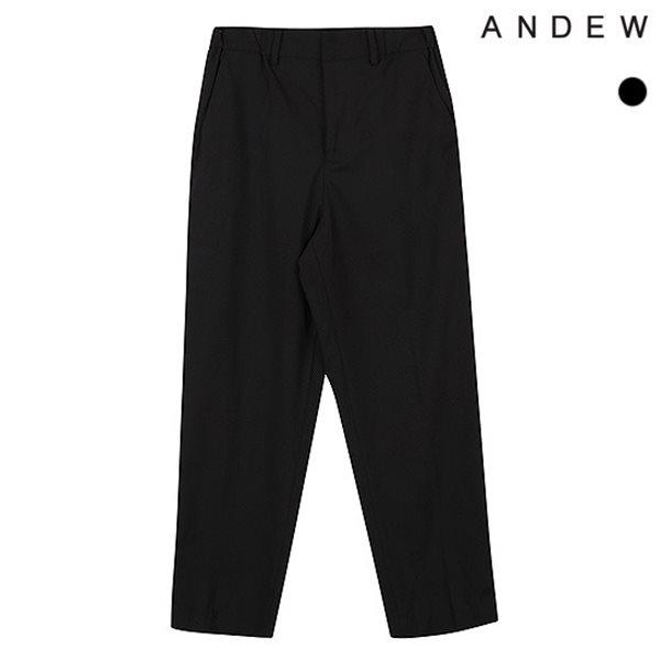 [ANDEW]남성 와이드 TR 블랙 뒷밴딩 바지(O183PT300P)