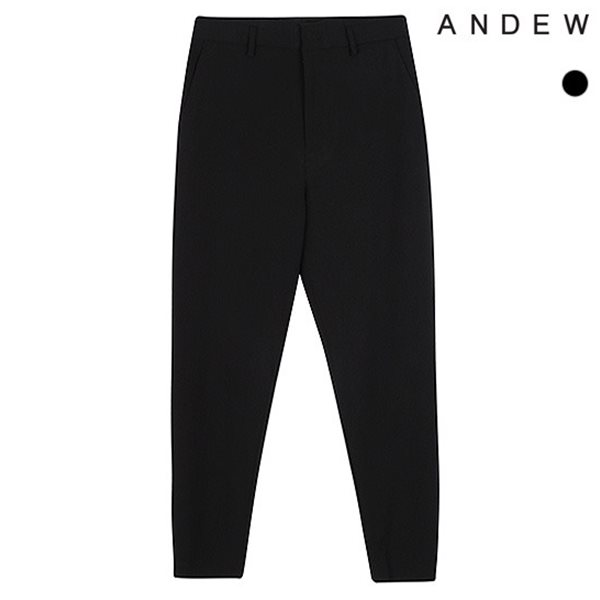 [ANDEW]남성 캐롯 TR 블랙 사이드밴딩 바지(O183PT320P)