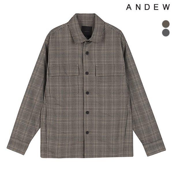 [ANDEW]유니 체크 아웃포켓 셔켓(O183JP010P)
