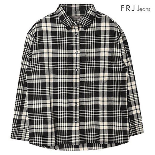 [FRJ]여성 선염 체크 셔츠 (F63F-SH528F)