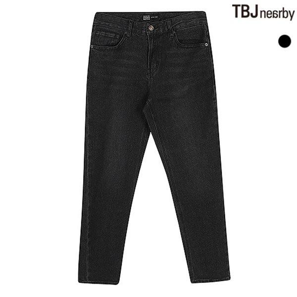 [TBJ]유니 레귤러 BK 레트로 데님(T185DP433P)