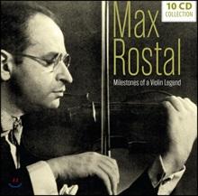 Max Rostal 막스 로스탈 - 10 오리지널 앨범 모음 (Milestones Of A Violin Legend - 10 Original Albums)
