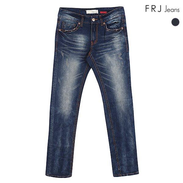 [FRJ]남성 D톤얼룩이워싱슬림일자데님(F51M-DP206A)