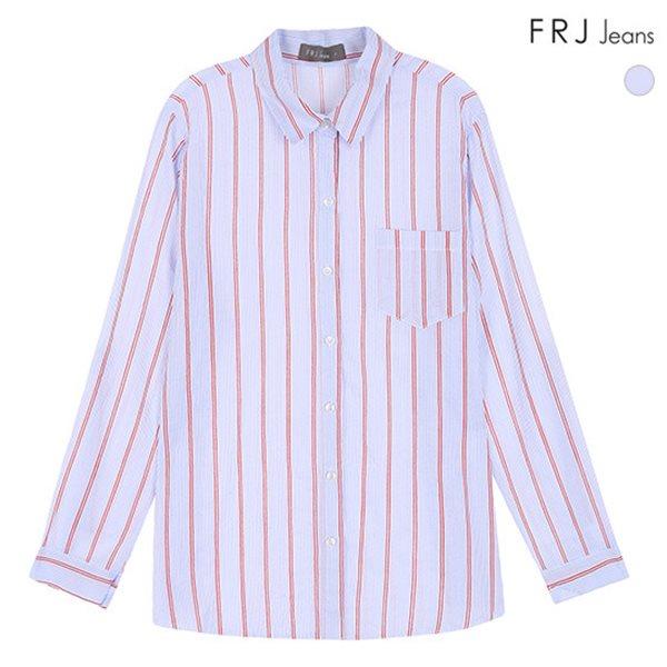 [FRJ]여성 기본카라포인트스트라이프셔츠 (F83F-SH528S)