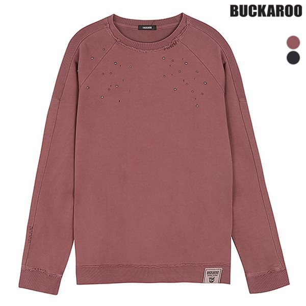 [BUCKAROO]여성 거즈쭈리 스노우워싱 핫픽스 티셔츠(B183TS620P)