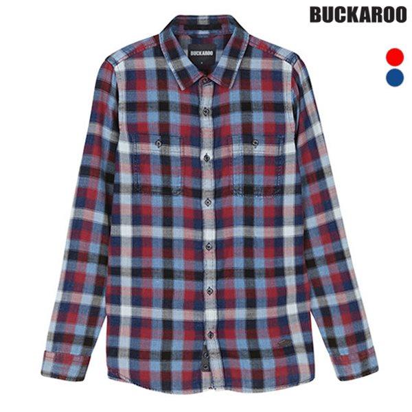 [BUCKAROO]유니 선염체크 빈티지 셔츠(B183SH030P)