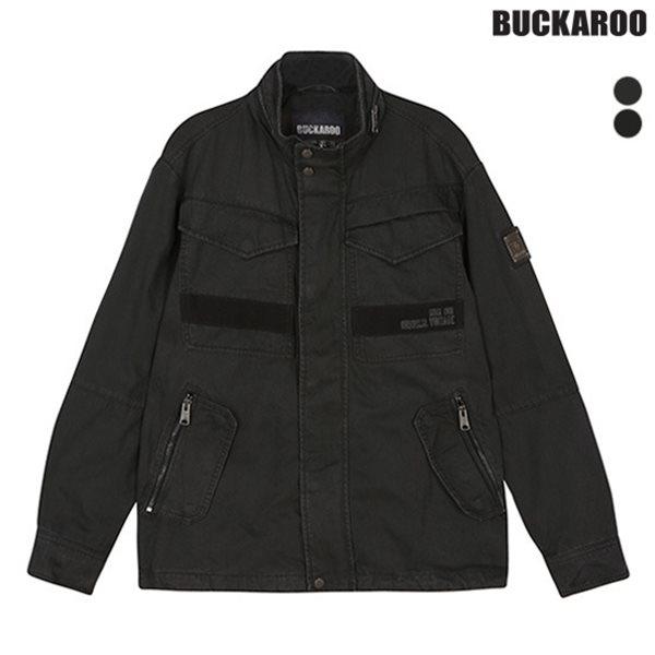 [BUCKAROO]남성 코튼 피그먼트 하이넥 포켓장식 야상 JP(B183JP310P)