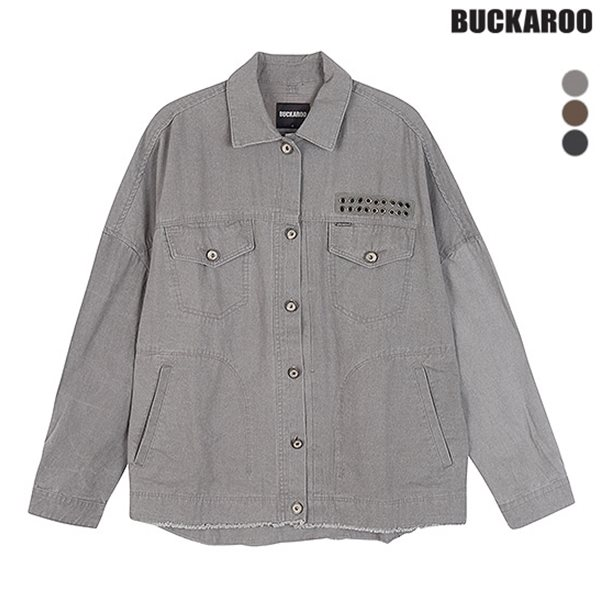 [BUCKAROO]여성 피그먼트 아일렛 장식 데끼 셔켓(B183SH520P)