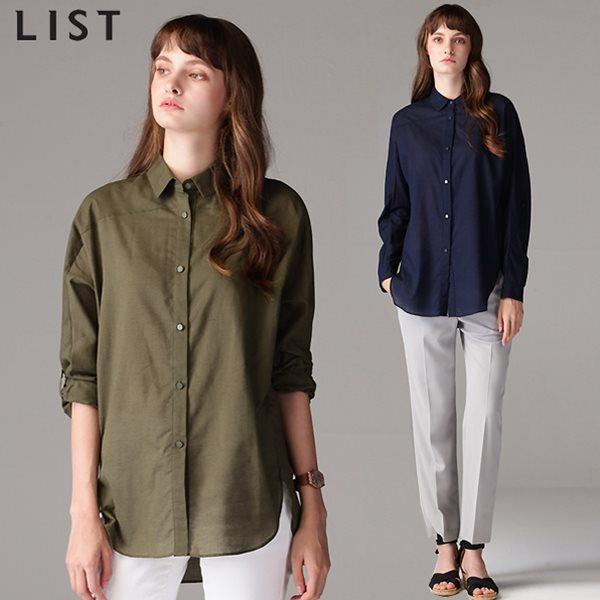 [리스트(LIST)] 세미루즈핏 라이트 베이직 셔츠