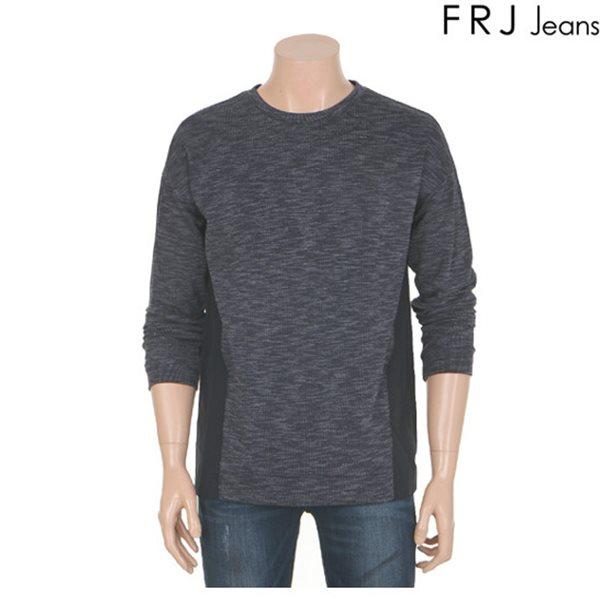 [FRJ]남성 사이바폴리배색오버핏맨투맨(F61M-TS151A)
