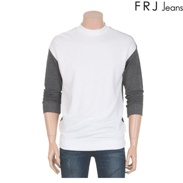 [FRJ]남성 앞뒤배색오버핏티셔츠(F61M-TS171A)