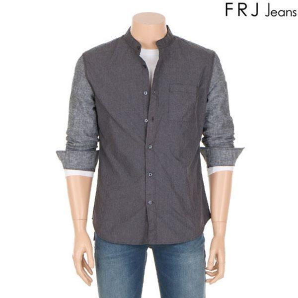 [FRJ]남성 앞판폴리배색스텐카라셔츠 (F61M-SH011B)