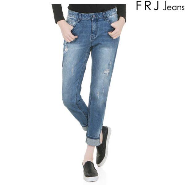 [FRJ]여성 M톤워싱구제보이핏데님 (F61F-DP654B)