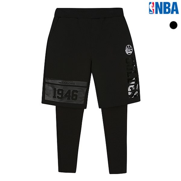 [NBA]GSW WARRIORS 우븐 레깅스 반바지(N183PT334P)