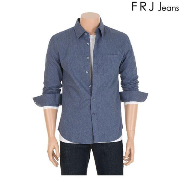 [FRJ]남성 멜란지네이비셔츠 (F61M-SH131B)