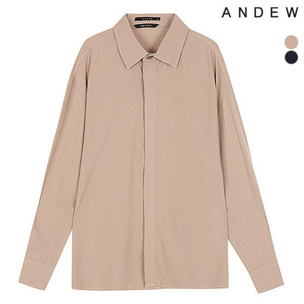 [ANDEW]남성 세미오버 기본카라 레이온 솔리드 셔츠(O183SH430P)