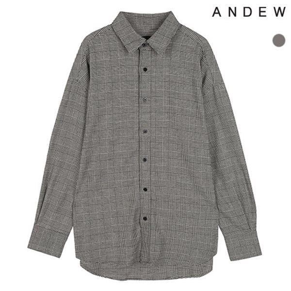 [ANDEW]남성 오버 기본카라 글렌체크 셔츠(O183SH420P)