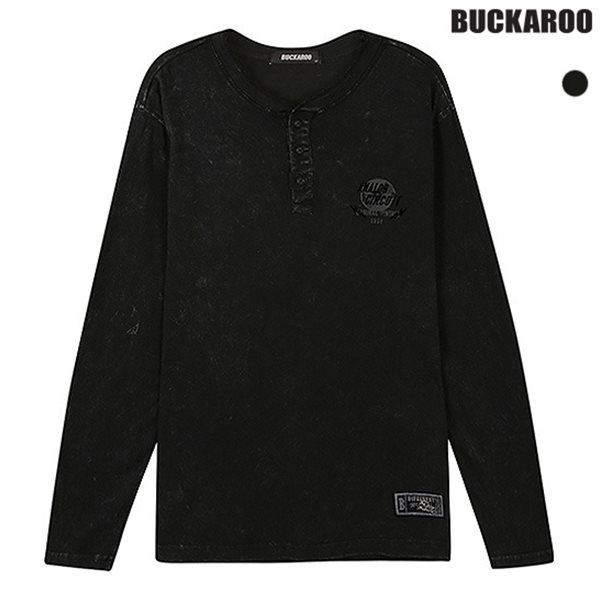 [BUCKAROO]남성 20수 스노우 헨리넥 티셔츠(B183TS420P)
