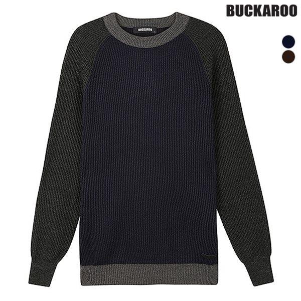 [BUCKAROO]남성 A/C 하찌 배색 나그랑 니트 풀오버 (B184KT300P)