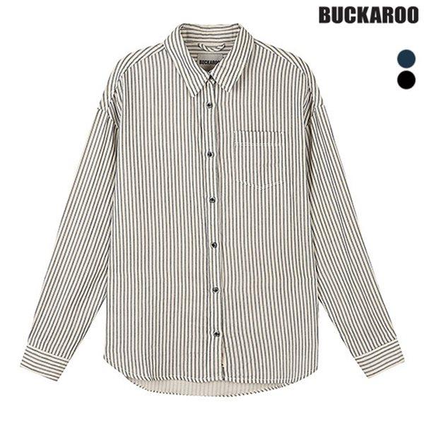 [BUCKAROO]유니 거즈 이중지 STRIPE 셔츠(B183SH040P)