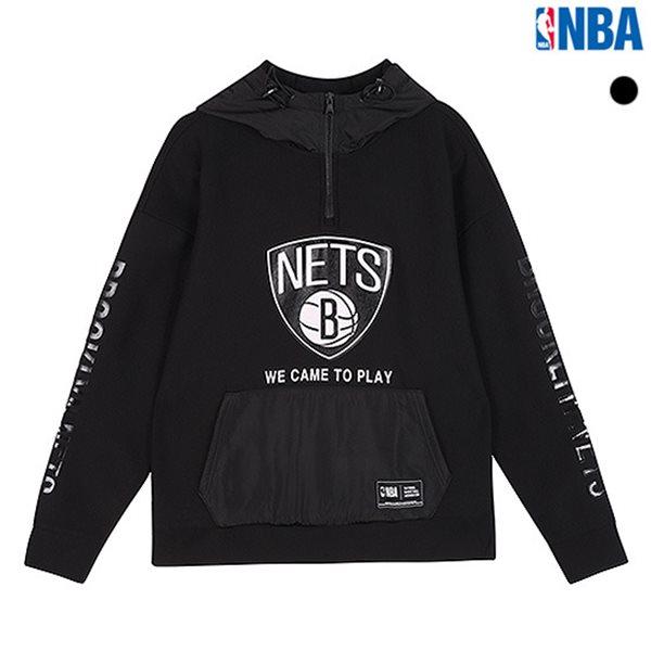 [NBA]BKN NETS 레터링 반집업 후드티셔츠(N183TH320P)