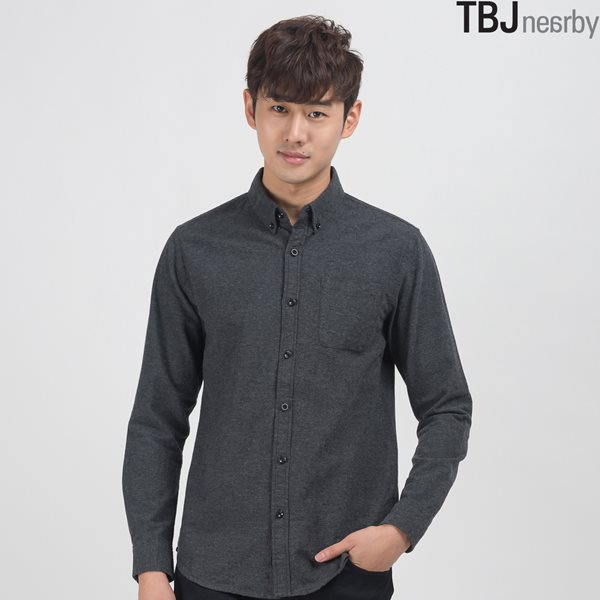 [TBJ]남성 제기장 울라이트 멜란지 셔츠 (T154SH400P)