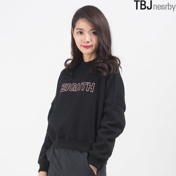[TBJ]여성 숏기장 루즈핏 기모 맨투맨 티셔츠(T154TS750P)