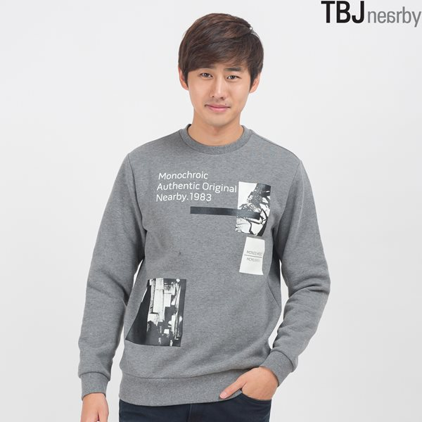 [TBJ]유니 기모쮸리 변형 박스 맨투맨(T154TS111P)