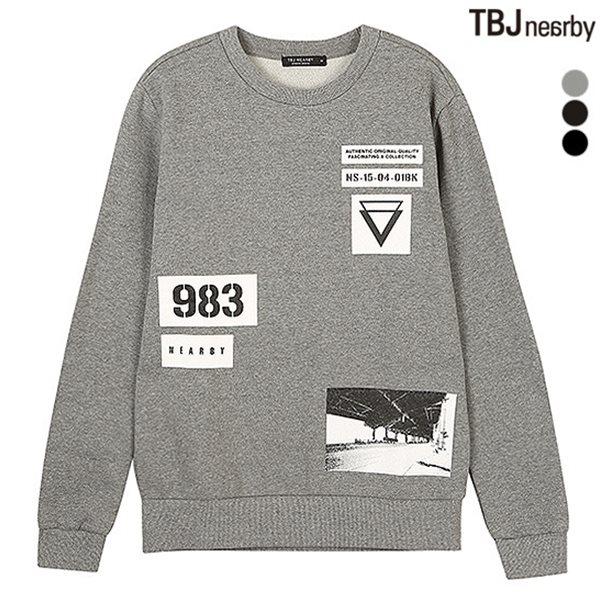 [TBJ]유니 기모쮸리 호일 아트웍 맨투맨(T154TS110P)