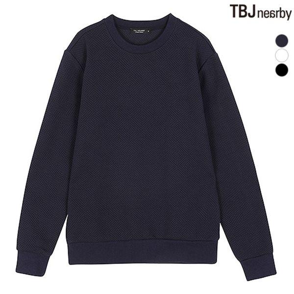 [TBJ]남성 조직변형 엠보 맨투맨 (T184TS120P)