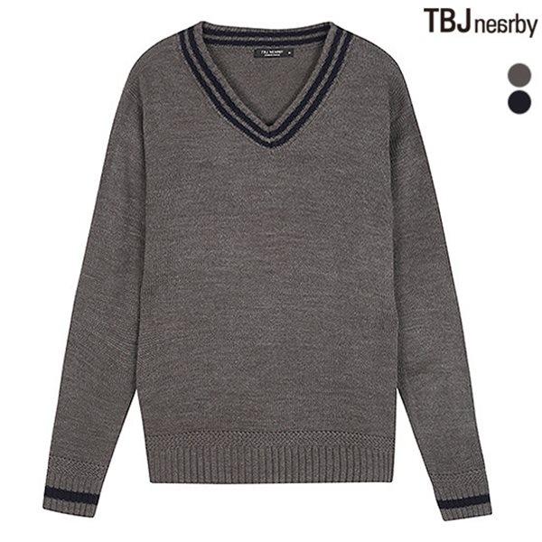 [TBJ]남성 제기장 V넥 니트 풀오버(T183KT110P)